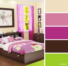 The 20 best color combos for your bedroom Modern Color Schemes, Room Color Schemes, Good Color Combinations, Color Combos, Bedroom Styles, Bedroom Colors, Wall Color Combination, House Colors, Colorful Interiors