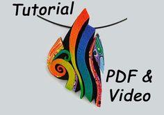 Polymer Clay Tutorial. Rainbow Pendant Tutorial Using Polymer