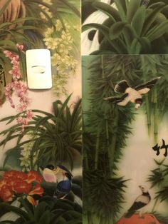 Bird And Flower Tattoo, Tattoos, Flowers, Painting, Art, Art Background, Tatuajes, Florals, Painting Art