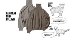 Cashmere mink pullover