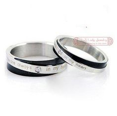 Wholesale his and hers promise ring sets,Fashion Jewelry,Korean Couple Stainless Steel Engagement Wedding Rings Jewellery,Free shipping, Free shipping, $13.76/Pair | DHgate Mobile