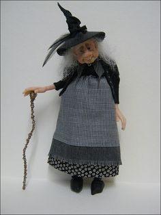 12th Scale Hunch Backed Witch