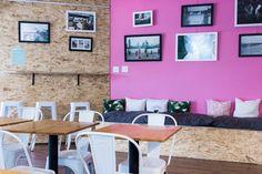 Rose wall & OSB - Candide café