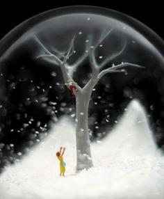 一見メルヘンだがよく見ると意味深なスノーグローブのアート - ライブドアニュース