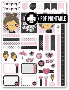 Audrey Decorating Kit PDF PRINTABLE Planner by PlannerPenny