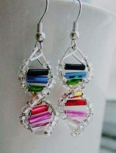 Diy dna earrings = Fantastic!