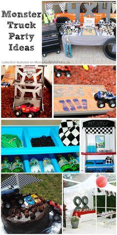 Monster Truck Party Ideas www.momsandmunchkins.ca #MonsterTruck
