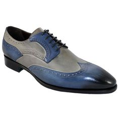 #Best #Wedding #Blue #Grey #Wingtip #Oxfords #Handmade #LaceUp #Collection #Mens #Leather #ChristmasShoes