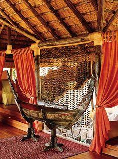 In the dining room at Lupita Island Resort Tanzania, Kenya, Savannah House, Lake Tanganyika, Horn Of Africa, Safari Adventure, Wildlife Safari, Safari Theme, Green Mountain