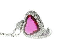 Platinum Diamond ruby heart pendant locket. Ruby 4.33cts, Diamonds 3.30cts.  http://www.luciecampbell.com/necklaces/All/1352--1/  £ContactUs  richard@luciecampbell.com  Lucie Campbell Jewellers Bond Street London  http://www.luciecampbell.com