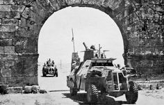 June 1941 Syria. South-African built Marmon-Herrington Mk.II or early III. June 8th 1941, British and Free French forces enter Syria and Lebanon in Operation Exporter. Among those wounded in the fighting was the 26-year-old leader of Palestinian volunteer forces, Moshe Dayan, the future hero in the fight for an independent Jewish state. He lost an eye.