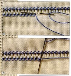 haft hardanger na Stylowi. This Pin was discovered by Özn Stitch Explorer Challenge: Chicken Scratch (B) Hardanger Embroidery, Hand Embroidery Stitches, Embroidery Techniques, Ribbon Embroidery, Sewing Techniques, Cross Stitch Embroidery, Folk Embroidery, Embroidery Designs, Swedish Weaving
