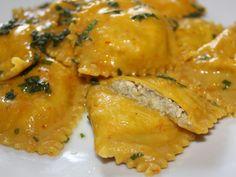 Ravioli d'oro carciofi, tofu e zafferano