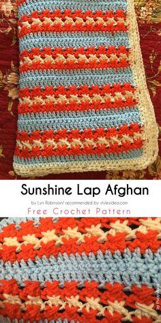 Little Miss Sunshine Baby Blanket Free Crochet Pattern #babyblabket