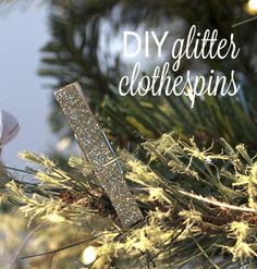 DIY glitter clothespins - NO drying time!