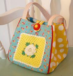 decoration / pocket - flower square