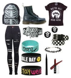 """""""First day of school"""" by edithisonfire on Polyvore featuring Kreepsville 666, Dr. Martens and 2LUV"""