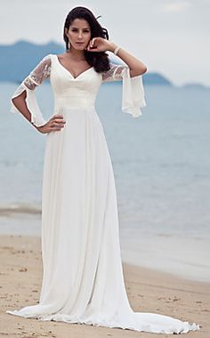 SIRKA - Vestido de Novia de Gasa y Encaje – EUR € 148.49