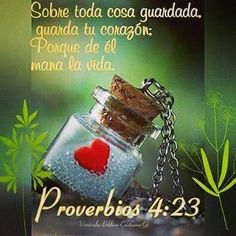 Guarda tu corazón Biblical Verses, Bible Scriptures, Christian Devotions, Christian Quotes, Bible Guide, Tips To Be Happy, Biblia Online, Let Your Light Shine, Try To Remember