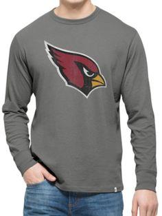 Arizona Cardinals 47 Brand Wolf Grey Long Sleeve Cotton Flanker T-Shirt 03c103a8c