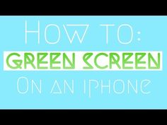 HOW TO USE GREEN SCREENS ON IPHONE / IPAD IMOVIE FUSED APP - YouTube