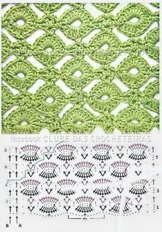 OPEN CIRCLE LINK LACE MOTIF WITH DIAGRAM