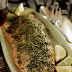 Roast #Salmon with Gremolata. Lemon and lime zest give the perfect tang. Thank you, SF Gate