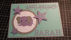 Birthday card using create a critter elephant.