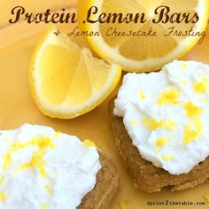 Protein Lemon Bars with Cheesecake Frosting