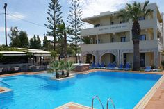 Find lowest rates at Sunny Suites Agia Marina Beach, Crete, Greek Islands, Sunnies, Tourism, Hotels, Places, Outdoor Decor, Turismo