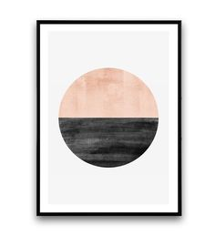 Minimalist print, Abstract watercolor art, Geometric art, Circle print, Nordic style, Pink color print, Home art, Modern art, Minimal art    Dimensions available:  5 x 7 8 x 10  11 x 14  A4 210 x 297 mm (8.3 x 11.7)  A3 297 x 420 mm (11.7 x 16.5)  - Please choose from drop down menu above!    If you are interested into any size that is not available, please contact us.        INFO:    Prints are printed on 240gsm Archival Matt photo paper    Shipped in a sturdy mailing tube with sealed caps…