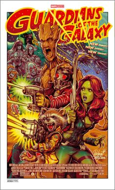 Guardians Of The Galaxy Retro Poster - Rockin' Jelly Bean Marvel Movie Posters, Comic Poster, Vintage Movie Posters, Gig Poster, Disney Posters, Et Wallpaper, Marvel Wallpaper, Rock Poster, Poster Wall