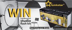 The Linkstar flash kit is ideal for professional studio. The kit includes two Linkstar studio flashes with flash power each.