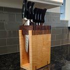 I made a knife block based on an image i saw over on /r/woodworking