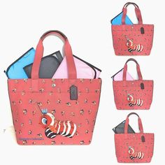 35a02d1af9ca COACH Buzzy Bee Fisher Price Pink Floral Multipurpose Tote Baby Diaper Bag  NWT
