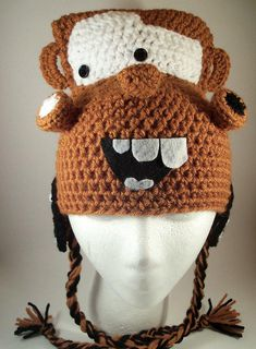 Rusty Truck Pattern (All sizes) Optional Crochet mouth by Boomer Beanies