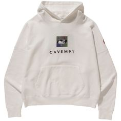 Cav Empt Embroidery Heavy Hoodie (White)