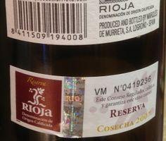2007 Marqués de Murrieta Reserva-back label