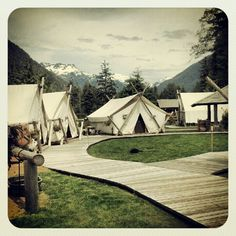 Your camping playground in the wilderness. Clayoquot Wilderness Resort. www.wildretreat.com