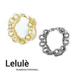 Inspiração para sua segunda!  Qual sua favorita?  #jewelry #fashionjewelry #fashion #semijoias #beautiful #pulseirismo #pulseiras