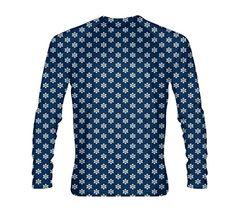 31ce35214b Amazon.com  LightningWear Snowflake Long Sleeve Shirt - Holiday Long Sleeve  Shirts - Christmas Shirts - Long Sleeve Christmas Shirts  Sports   Outdoors