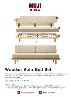 Wooden Sofa Bed Set