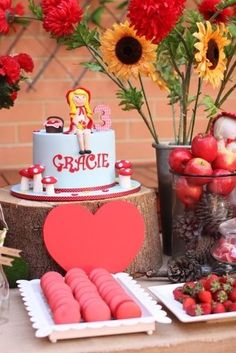 What a cute cake at a Little Red Riding Hood girl birthday party!  See more party ideas at CatchMyParty.com!