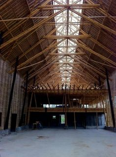Interior view of Big Tree Farm's new all-bamboo chocolate factory