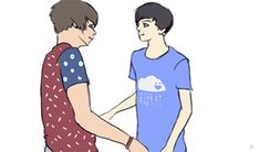dan+looking+at+phil | thelionandthellama:I'm not crying, I just have some Phan in my eyes.