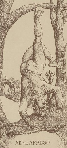 XII. The Hanged Man: Dürer Tarot