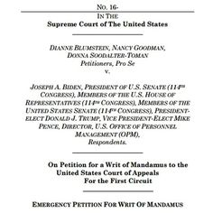 Petition Before SCOTUS Seeks To Nullify Election