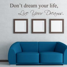 Don't Dream Your Life, Live Your Dreams - Art Wall Decals Wall Stickers Vinyl Decal Quote (Black, Large): Amazon.co.uk: Kitchen & Home