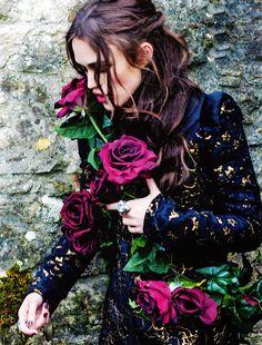 """keira knightley photographed by Ellen Von Unwerth for """"Harper's Bazaar"""" UK magazine sept 2012....."""