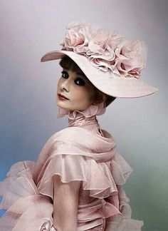 Audrey Hepburn in costume for My Fair Lady.